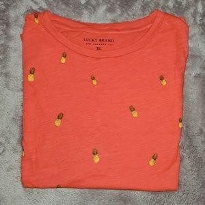 Lucky Brand Tops - 🆕 Lucky Brand pineapple t-shirt.